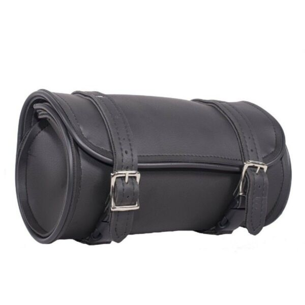 NEW 10quot; X 5quot; ROUND WATERPROOF MOTORCYCLE TOOL FORK BAG FITS HARLEY HONDA U12 $30.00