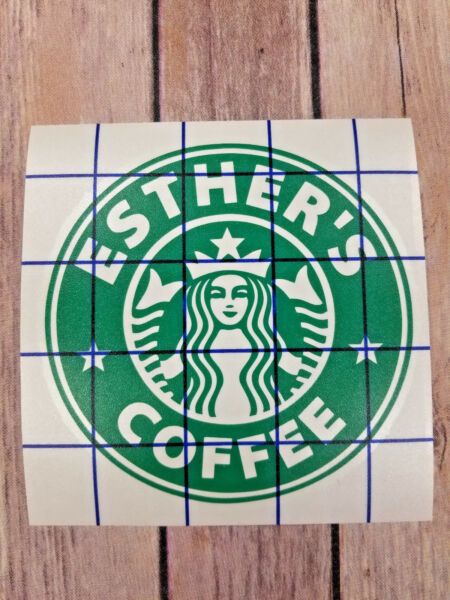 Customized Name Starbucks Coffee Logo Yeti Laptop Glass Cup Decal Sticker.