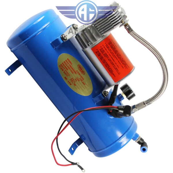 Air Compressor With 6 Liter Tank 150PSI DC 12V For Train Truck RV Pickup Marine