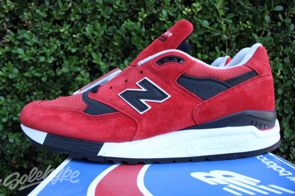NEW BALANCE 998 SZ 12 BLACK RED AMERICAN REBEL MADE IN THE USA M998RO