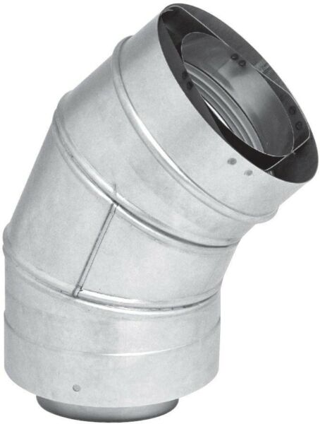 Rheem 3 in. x 5 in. Stainless Steel Concentric Venting 45 Degree Elbow for Gas $57.40