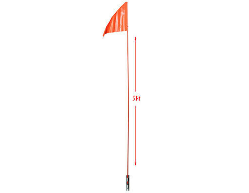 Safety Flag Orange 60quot; Long Pole Tricycle Bicycle Trailer Bike New $24.99