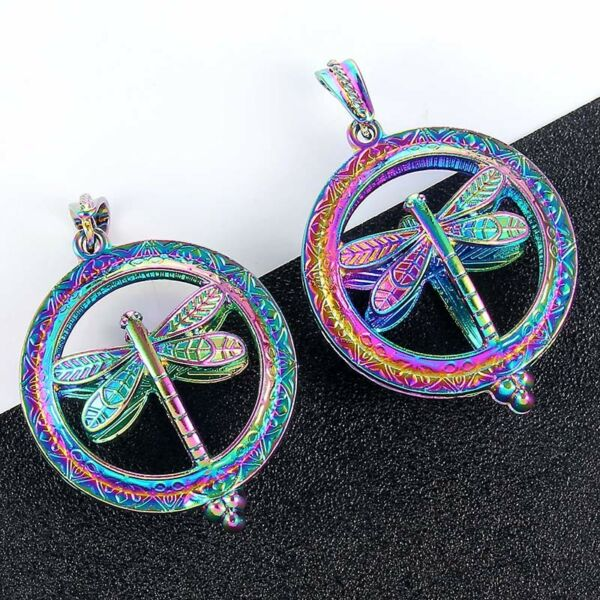 2X Pearl Beads Cage Pendant Locket Necklace Dragonfly For Jewelry Making Gift
