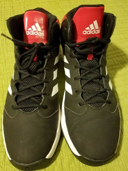 Adidas Black White High Top Sneakers Mens US Size 13 Athletic Shoes
