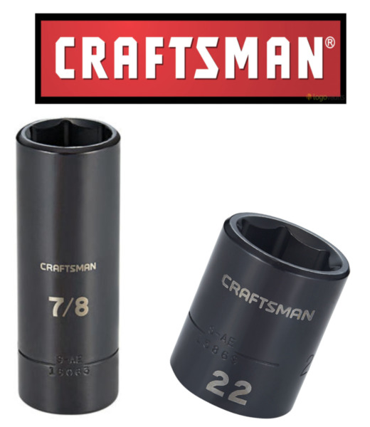 NEW Craftsman 1 2quot; amp; 3 8quot; Drive Impact Socket Deep Shallow 6pt SAE MM Choose