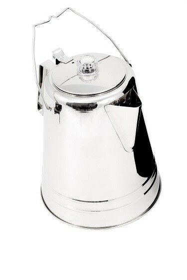 Outdoors Campfires Glacier Stainless Steel Percolator Coffee Pot Flame-resistant