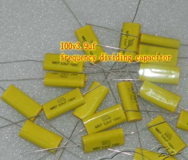 100V3.9UF Frequency dividing capacitor Axial non-inductive capacitor