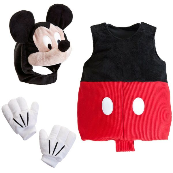 Disney Store Mickey Mouse Plush Baby Costume Halloween Toddler Dress Up 12 18 24