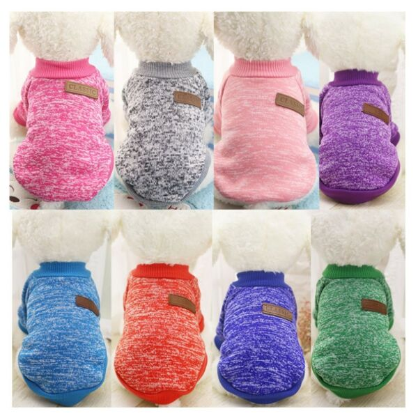 Small Dogs Soft Pet Dog Sweater Chihuahua Jumper Pullover Pet Outfit Clothes