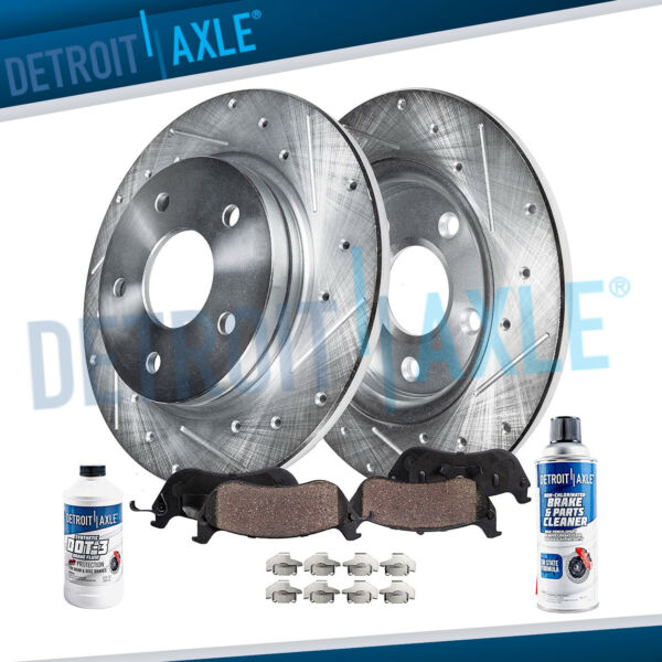 REAR for 2002 2006 Toyota Camry Drilled Slotted Rotors Ceramic Brake Pads $62.18