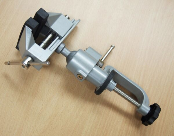 3#x27;#x27; Jaws Aluminum Table Bench Top Vise Vice Universal Swivel Clamp On