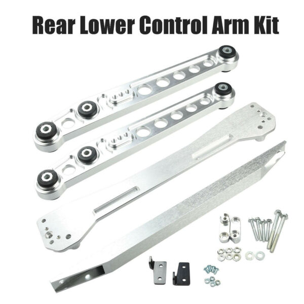 Rear Lower Control Arm Subframe Brace Tie Bar Fully For 96-00 Honda Civic EK SL