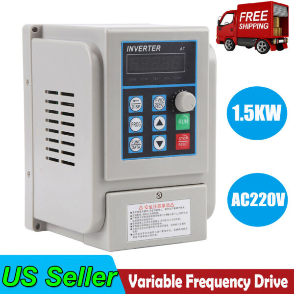 2HP 1.5KW 1 To 3 Phase Variable Frequency Drive Converter VFD Speed Controller