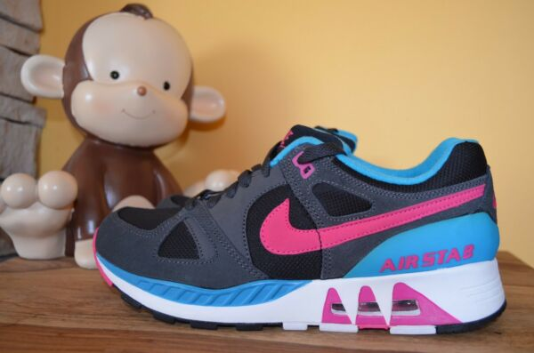 NEW NIKE AIR AIR STAB South Beach SZ 8.5 Black/Blue Lagoon/Hot Pink 312451-004