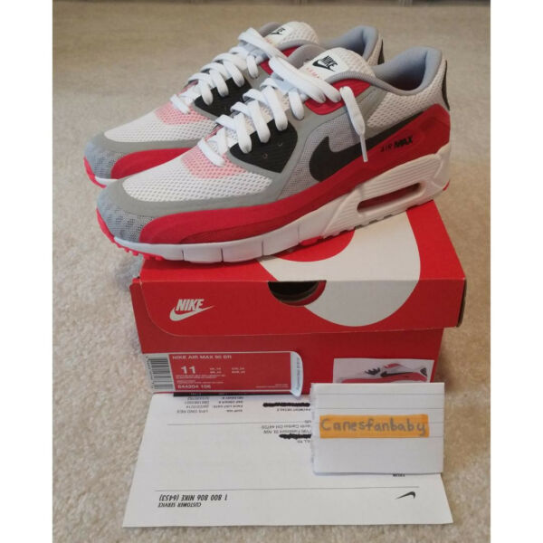 Nike Air Max 90 BR Breathe White Black Grey Red Brand New Size 11 644204 106