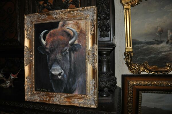 The most Beautiful Buffalo Head Painting by well known Artist