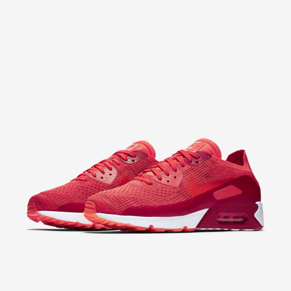 Nike Air Max 90 Ultra 2.0 Flyknit Mens 875943-600 Red Running Shoes
