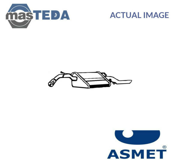 ASMET EXHAUST SYSTEM REAR SILENCER 24053 I NEW OE REPLACEMENT