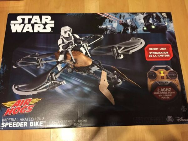 Drone Remote Controlled Air Hogs Star Wars Speeder Bike Durable 2.4GHz 4 channel