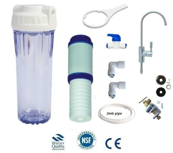 L63 UNDERSINK WATER FILTER DRINKING WATER KIT WITH ELEGANT FAUCET GBP 128.99