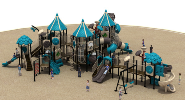 65x45x25 Commercial Playground Equipment Interactive 100% Financing Available
