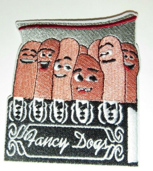 SAUSAGE PARTY quot;FANCY DOGSquot; Embroidered 3.25quot; PATCH $5.50