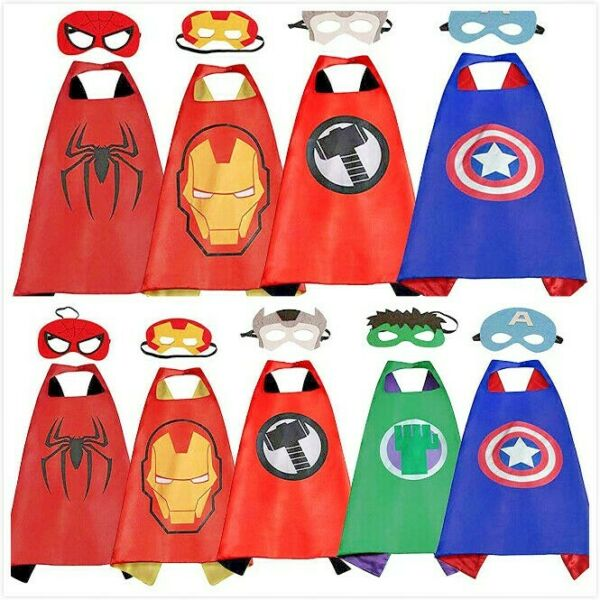 Superhero Capes with Masks Dress Up Costumes for Kids Boys Girls Party Favors $6.99