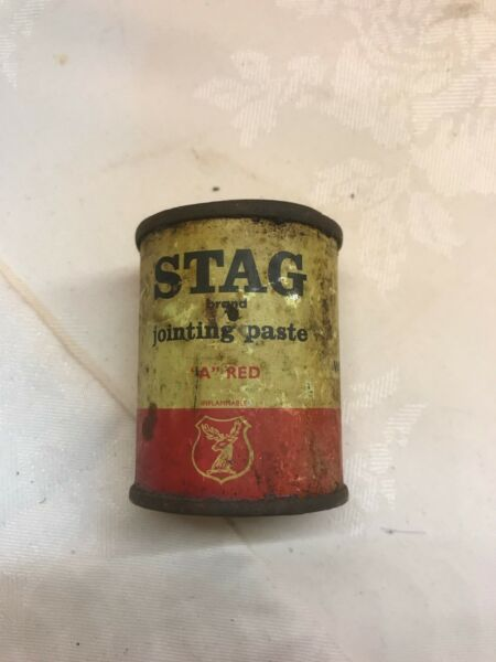 Original Vintage Small Stage Jointing Compound A Red Tin 6 x 5 Cm See Pictures
