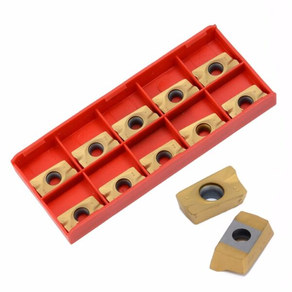 10pcs Blades Inserts APKT1604PDER DP for Cutting Steel Alloy Turning Tool US NEW
