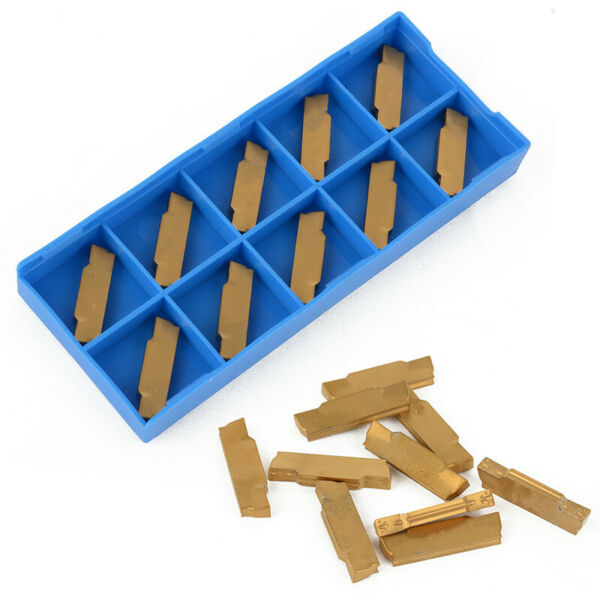 10 pcs Carbide Inserts 3mm Width MGMN300-M for MGEHRMGIVR Grooving Cut Off Tool