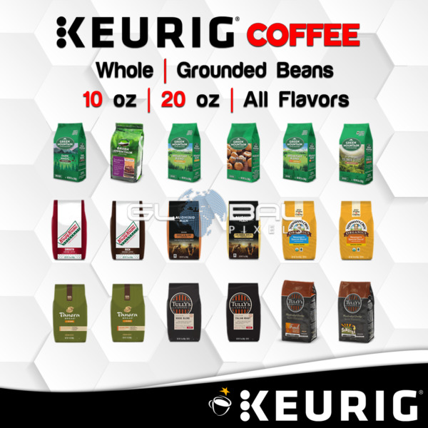 Keurig Coffee GroundWhole Beans 1020 Oz. Bagged Blend lot Espresso All Flavors