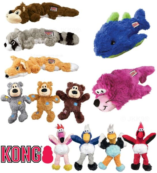 KONG Knots Dog Puppy Toy Soft Plush Squeaky Dogs Toys with Knotted Rope Interior $15.08