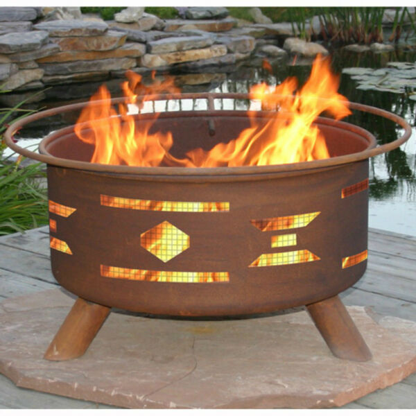 Outdoor Fire Pit w Grill Patio Cooking Wood Burner Bowl Cover Screen Protector