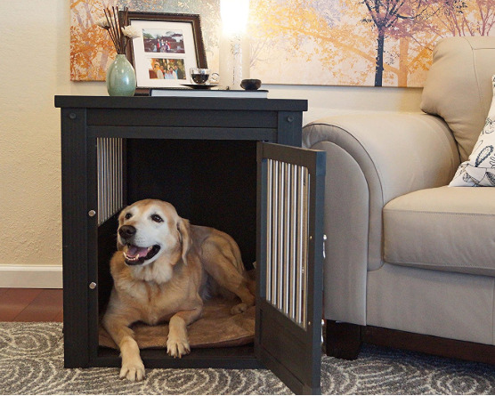 Dog Kennel End Table Crate For Extra Large Dogs XL Indoor Wood Cage With Cover