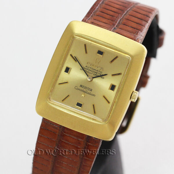 Omega Rare Vintage Constellation Ref 153.002 Chronometer Meister Auto 18KY Gold