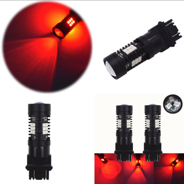 2 pcs 21-LED Light Bulbs Brake Tail Stop Lights Blinking Rear Alert Safety