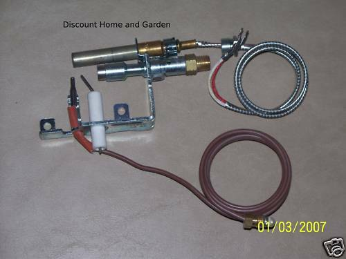 Remote Vent Free Gas Log ODS Pilot Assembly Natural Gas Course Thermocouple