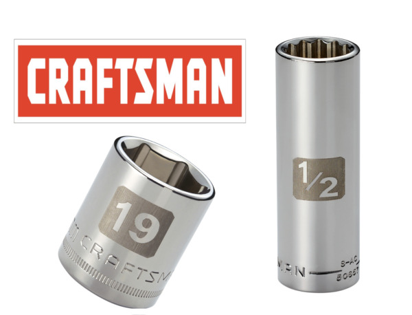 Craftsman Easy Read Socket 1 2 or 3 8quot; Drive Shallow or Deep Metric mm SAE Inch