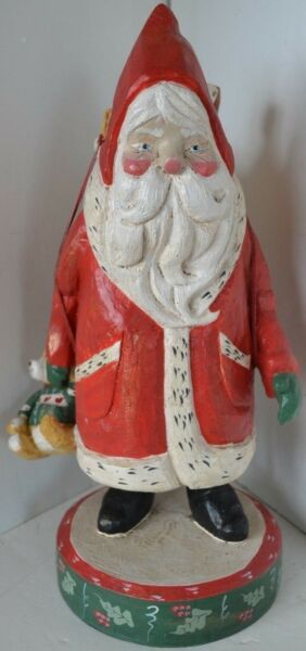 Vintage House of Hatten Figure Bear Santa Goose 1988