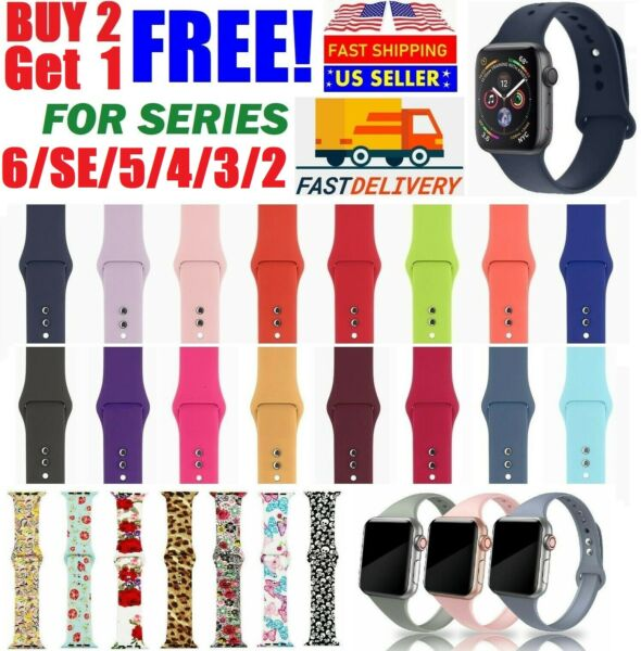 Silicone Nylon Sport Band Strap for Apple Watch Series 5 4 3 2 1 4244mm 3840mm