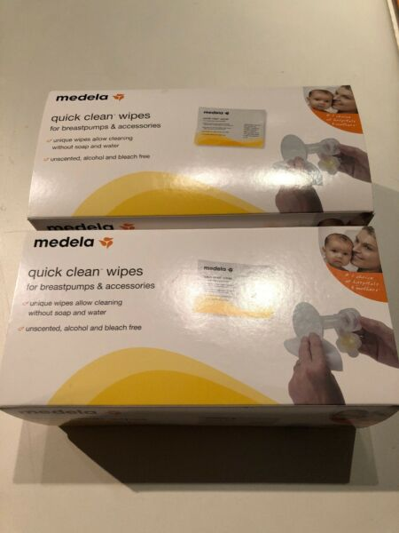 Medela Quick Clean Breast Pump and 40 Piece and 35 piece total 75 Wipes Lot
