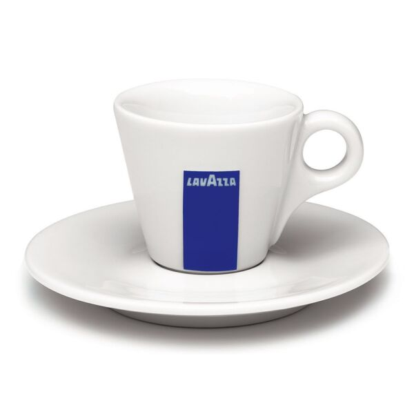 Lavazza Espresso Coffee Cups and Saucers - Set of 12 and 12 Spoons
