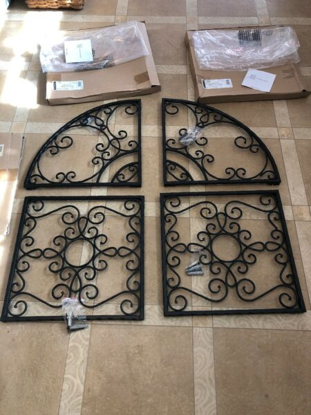 Longaberger Wrought Iron Hammered Wall Arches and Squares Set of 4