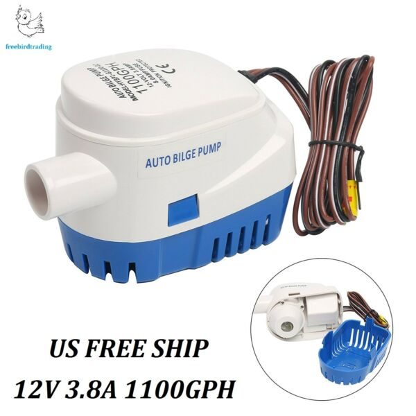 Auto Submersible 1100GPH Boat Bilge Water Pump Built-in Float Switch US SHIP