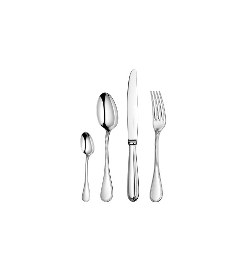 Perles by Christofle Paris Sterling Silver Flatware Set 48 Pieces with Chest New