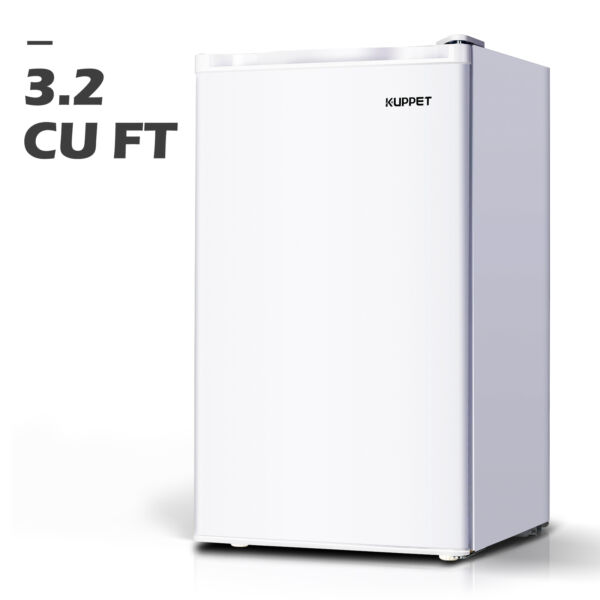 3.2 Cu.ft Mini Fridge Refrigerator Compact Freezer Freestanding Office White