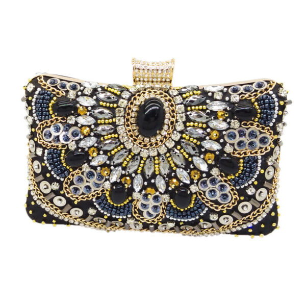 Vintage Women Beaded Evening Bags Wedding Cocktail Party Bridal Clutch Handbag