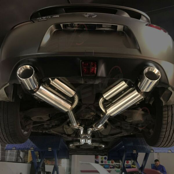 Rev9 Dual Cat Back Exhaust Double Walled Muffler Stainless For 370Z VQ37 09 17
