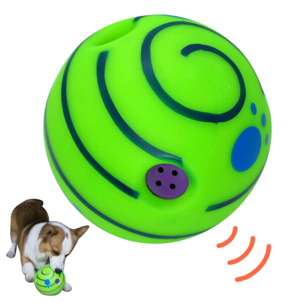 Wobble Wag Giggle Ball Dog Toys Sound Squeaker Interactive Toy for Medium Large