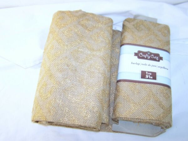 Crafty Cuts Burlap Material Brown Gold 2 yards Craft projects jute